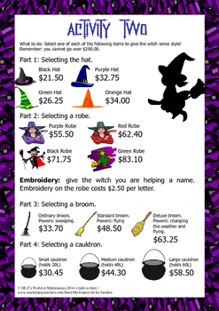 Christmas math activities: Budgeting Compilation