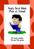 Beginning of the year math activities: Fred's First Week B