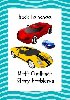 Beginning of the year math activities story problems 5th 6th
