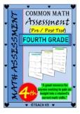 Beginning of the year math assessment 4th grade