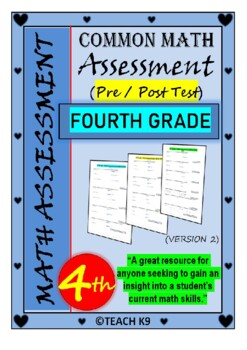 End of the year math assessment 4th grade