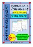 Beginning of the year math assessment 6th grade