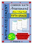End of the year math assessment 5th grade
