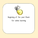 Beginning of the year poem online learning