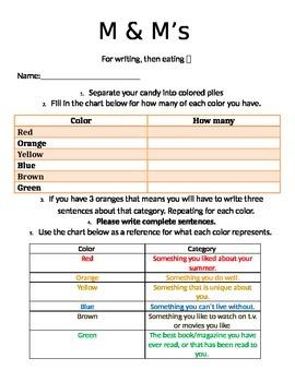 Beginning of the year writing