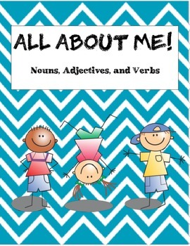 "Elementary Grammar Activity: Nouns, Verbs, Adjectives ""All About Me"""