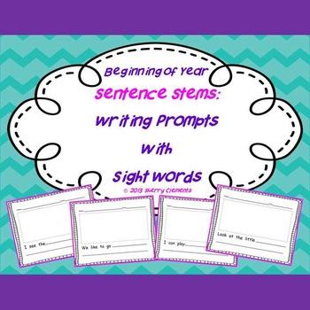 Writing Sentence Stems