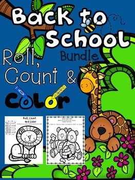 Beginning of year and Back to School Roll, Count and Color Activities