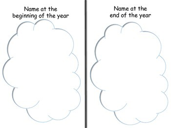 Beginning of year and end of year comparison booklet