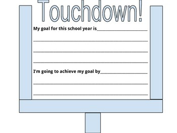 Beginning of year goal setting
