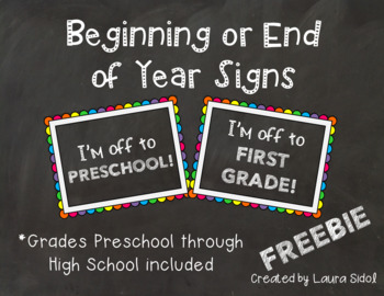 Beginning or End of Year Signs