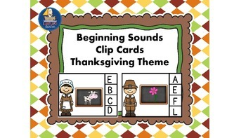 Beginning or Initial Sounds Pilgrim Theme