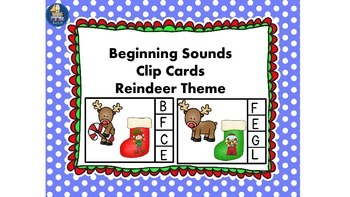 Beginning or Initial Sounds Reindeer Theme