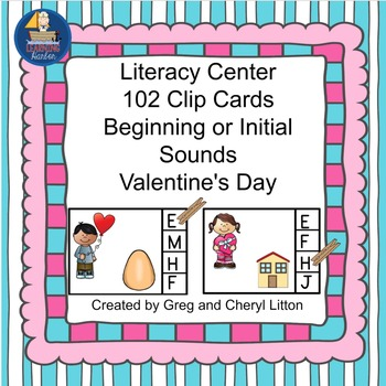 Beginning or Initial Sounds Valentine Theme