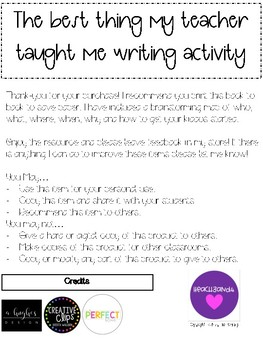 Beginning or end of the year writing prompt