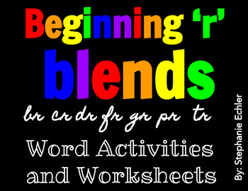 Beginning 'r' Blends Word Activities and Worksheets