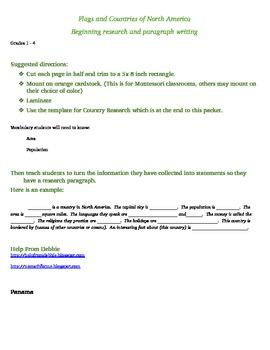 Beginning research - North America