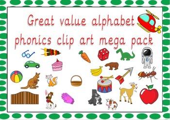 Alphabet Phonics Clip Art over 120 images