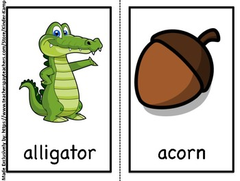 Literacy Center Beginning Sound Picture Hunt -- (Worksheets & Flashcards)