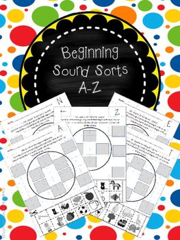 Beginning sound sort kindergarten printables