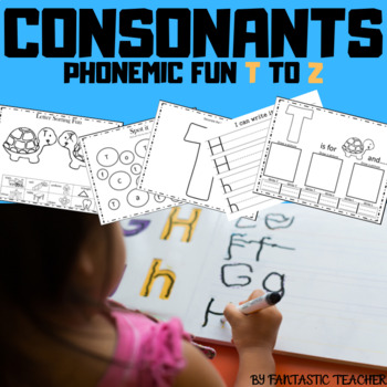 Beginning sounds - ABC Phonemic Fun ( consonants from T to Z)