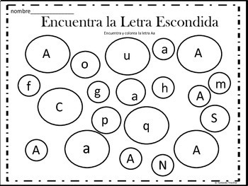 Beginning sounds - Diversion Fonetica- Bundle Complete from A-Z in Spanish