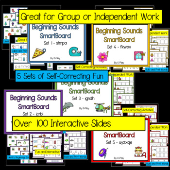 Beginning sounds Games and Activities Bundle - Smart Board