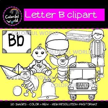 Beginning sounds-Letter B clipart