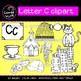 Beginning sounds - Letter C clipart