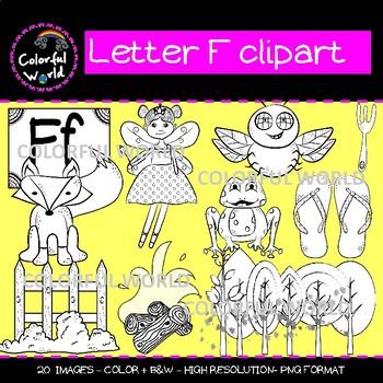 Beginning sounds - Letter F clipart