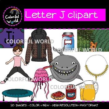 Beginning sounds - Letter J clipart