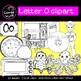 Beginning sounds - Letter O clipart