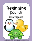 Beginning sounds Letter and Picture cards with worksheets NO PREP