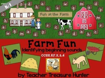 Beginning sounds *a board game ~ FARM FUN / center K-1