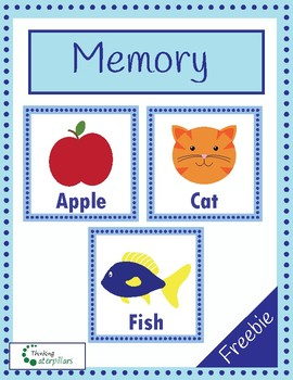 Beginning sounds alphabet memory FREEBIE!