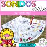 Beginning sounds cards in Spanish / Los sonidos iniciales