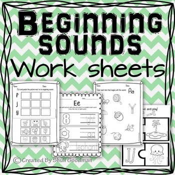 Beginning sounds complete unit - print and go