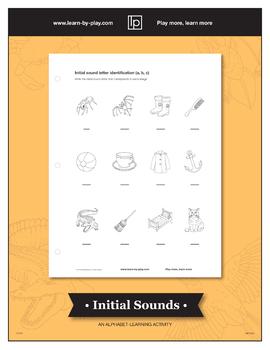 Beginning sounds identification activity (A, B, C)