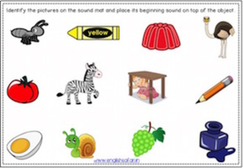 Beginning sounds mats (activity)