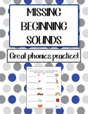 Language Arts - Missing Beginning Sounds worksheet