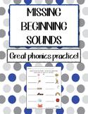 Language Arts - Missing Beginning Sounds worksheet