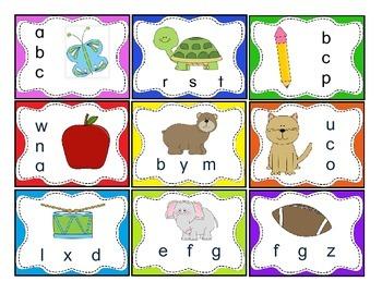 Beginning sounds task cards