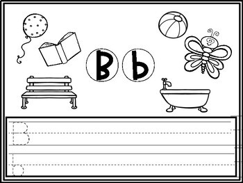 Beginning sounds tracing and coloring worksheets