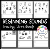 Letter Sound Tracing and Coloring worksheets