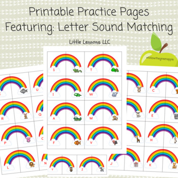 Beginning sounds two part puzzles alphabet match