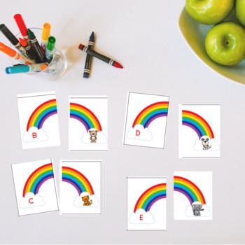 Beginning sounds two part puzzles alphabet match