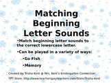 Beginning sounds/letter match Memory