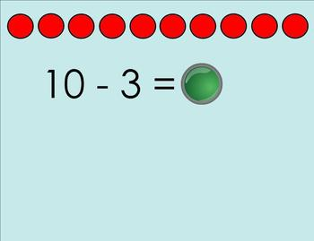 Beginning subtraction smartboard