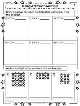 Beginning to Multiply - Student Math Practice Book