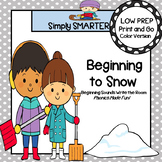Beginning to Snow:  LOW PREP Beginning Sounds Write the Room